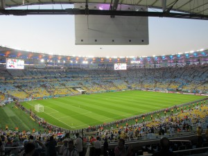 "Pre-Game - View from our seats in the ""Bosnia"" section"