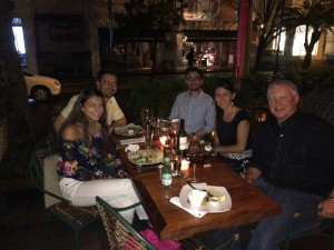 Dinner with Loren, Diana & Paul at Via Sete in Rio