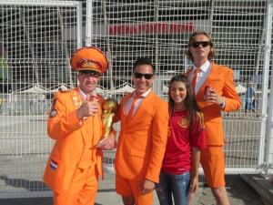 Pre-game - Carlie, the Dutch General and his dapper Dutch friends