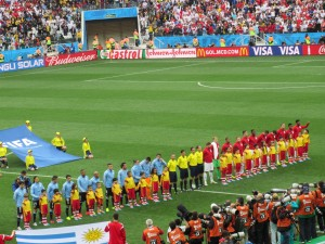 Starting Lineups - England vs. Uruguay
