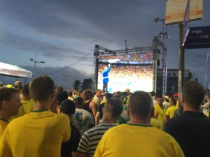 FIFA Fan Fest - Video screen on the way in