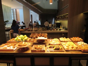 Breakfast spread at the Grand Hyatt Sao Paulo