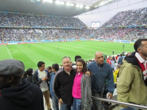 Jeff & Carlie at Arena Corinthians (pre-game)