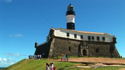 Forte de Santo Antonio and Lighthouse, also the backdrop for FIFA Fan Fest - Salvador