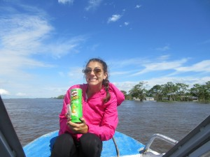 Snack time on the Amazon (must be 10:00 AM).