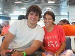 Carlie hanging with Alvaro Morata's older brother