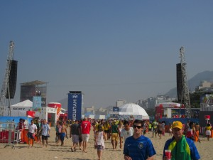 Another view of the FIFA Fan Fest, facing the entrance