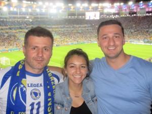 Carlie with the Bosnians - Estadio do Maracana
