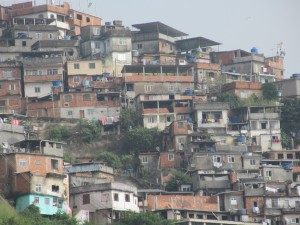Close up of the favela