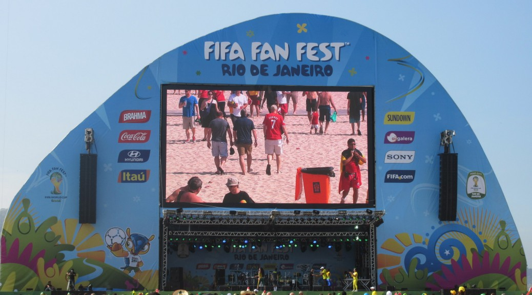 Inside the FIFA Fan Fest before the Belgium - Algeria match