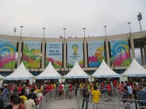 front of stadium