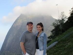 Jeff & Carlie at the top of the Pedro Bonita