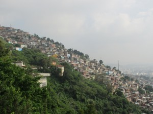Hillside favela adjacent to the Santa Teresa neighborhood
