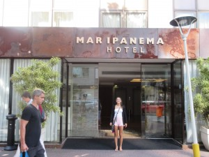 The Mar Ipanema Hotel, 2 blocks from Ipanema Beach