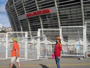 Pre-Game - Carlie in front of Arena Fonte Nova