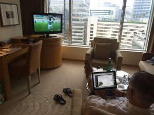P-Wags multi-tasking (World Cup blogging and World Cup watching)