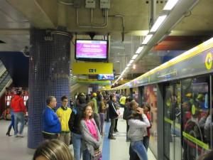 The Sao Paulo subway system is very clean and modern