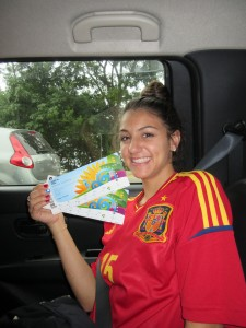 En route to Spain vs. Chile with Marcos