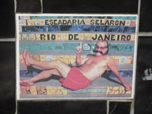 Large tile depicting the artist, Jorge Selaron